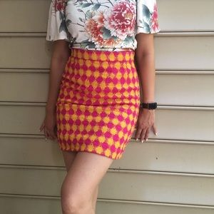 Vintage bold pencil skirt